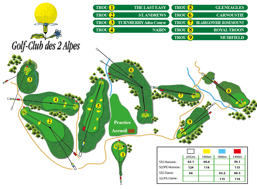 Plan general GOLF CLUB 2 ALPES
